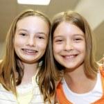Good Friends in School — Stock Photo