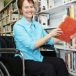 Librarian in Wheelchair — Stock Photo #6667503