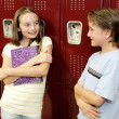 Locker Conversation — Stock Photo