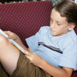 School Boy Reading — Stock Photo