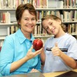 School Library - Brownie Points — Stock Photo