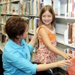 School Library - Choosing Book — Stock Photo #6667534