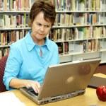School Library - Displeased — Stock Photo
