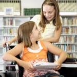 School Library - Friendship — Stock Photo