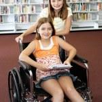 School Library - Help — Stock Photo