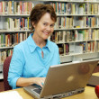 School Library - Teacher — Stock Photo