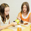 Stock Photo: School Lunch - Girls Table