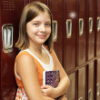Student by Lockers - Stock Photo