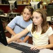 Stock Photo: Students Research Online