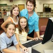 Teacher With Students — Stockfoto