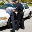 Foto Stock: Arresting Drunk Driver