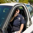 Police - Calling In Tag — Stock Photo