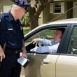 Police - Friendly Traffic Stop — Stock Photo
