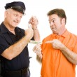 Police Officer Refuses Bribe - Stock Photo