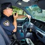 Policeman On Radio — Stock Photo