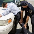 Stock Photo: Traffic Stop - Pat Down