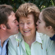 Stock Photo: Kiss For Grandma