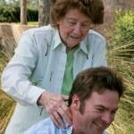 Massage From Mom — Stock Photo