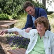 Stock Photo: Physical Therapy In Garden