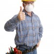 Construction Safety Thumbsup — Stock Photo