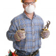 Construction Worker Safety — Stock Photo