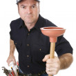 Plumber Strong & Tough — Stock Photo