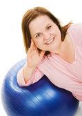 Beautiful Woman on Pilates Ball — Stock Photo