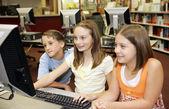 Computer Fun at School — Stock Photo