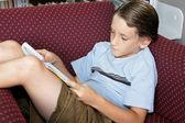 School Boy Reading — Stock Photo