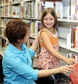 School Library - Choosing Book — Stock Photo