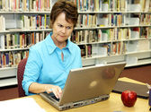 School Library - Displeased — Stock Photo