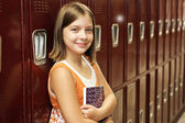 Student by Lockers — Stock fotografie