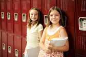 Students by Lockers — Stock Photo