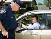 Police - Drunk Driver Guilty — Stock Photo