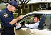 Policía - conducir ebrio — Foto de Stock
