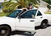 Police - Officer & Police Car — Stock Photo