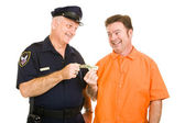 Policeman Accepts Bribe — Stock Photo