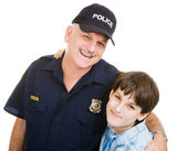 Policeman and Boy — Stock Photo
