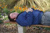 Asleep In The Garden — Stock Photo