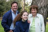 Drie generaties — Stockfoto