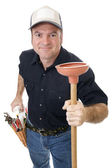 Plunger Man — Stock Photo