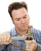 Plumbing Repair Closeup — Photo