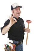 Wink and a Plunger — Stock Photo