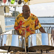 Musician On Steel Drums — Stock Photo