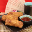 Chinese Egg Rolls & Tea 1 - Stock Photo