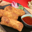 Crispy Chinese Egg Rolls - Stock Photo