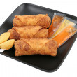 Egg Rolls & Fortune Cookies Path - Stock Photo
