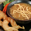 Hot & Sour Soup with Prawns — Stock Photo