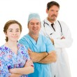 Stock Photo: Medical Team on White
