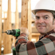 Carpenter Drilling Wood — Stock Photo #6671340